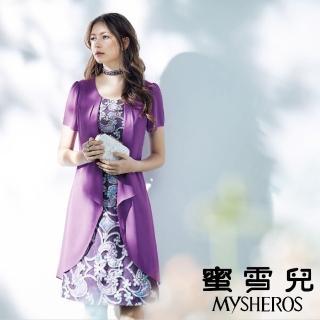 【mysheros 蜜雪兒】薰衣草立體圖騰花瓣洋裝(紫)  mysheros 蜜雪兒