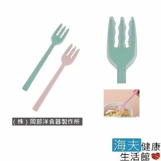 【海夫健康生活館】日華 餐具/叉匙 安全餐具 矽膠叉子 日本製(E0937)好評推薦  海夫健康生活館