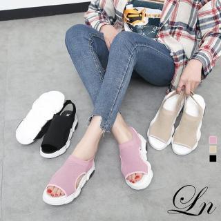 【LN】現+預 飛織厚底運動風涼鞋(休閒鞋 運動鞋 涼鞋)  LN