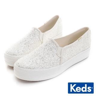 【Keds】x Kate Spade-TRIPLE DECKER 婚禮厚底休閒鞋(閃耀亮片) 推薦  Keds