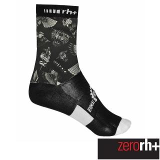 【ZeroRH+】義大利美式復古刺青圖騰系列專業高筒運動襪-15cm(黑色 ECX9108_41P)  ZeroRH+