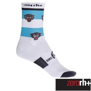 【ZeroRH+】義大利美式復古刺青圖騰系列專業高筒運動襪-15cm(白/藍 ECX9108_39P)  ZeroRH+