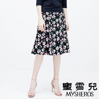 【mysheros 蜜雪兒】滿版碎花及膝裙(深藍)  mysheros 蜜雪兒