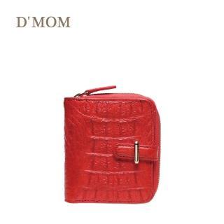 【DMOM】西班牙時尚名模鱷魚短夾(紅色)  DMOM