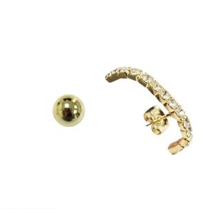 【Prisme】美國時尚飾品 璀璨氣息 金色耳環(NYU-EG072)  Prisme