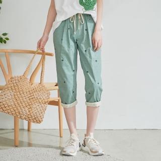【*KatieQ 慢。生活】清新舒活休閒七分褲-L/XL/2L(綠)優惠推薦  *KatieQ 慢。生活
