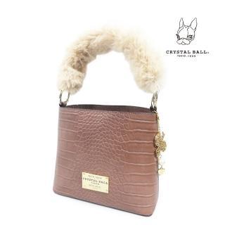 【CRYSTAL BALL】Fluffy mini Handbag優雅手提包  CRYSTAL BALL