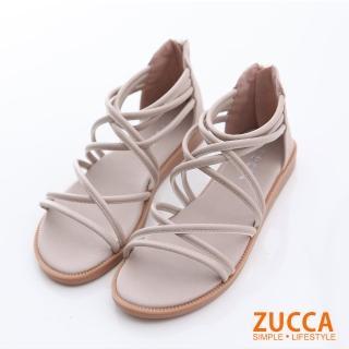 【ZUCCA&bellwink】繞繩環狀交叉平底涼鞋z6614we-白色折扣推薦  ZUCCA&bellwink