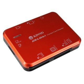 【KINYO】多合一7插槽晶片讀卡機(晶片讀卡機)  KINYO