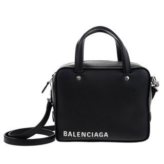 【Balenciaga 巴黎世家】新款Triangle Square XS系列品牌字母小牛皮二用包(黑色)優惠推薦  Balenciaga 巴黎世家