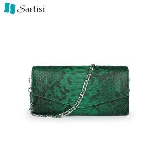 【Sarlisi】蟒蛇皮晚宴包單肩斜挎包鏈條女包新款女士手拿包手包  Sarlisi