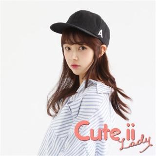 【Cute ii Lady】流行韓版A字母造型棒球帽(黑)  Cute ii Lady