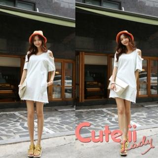 【Cute ii Lady】小清新捲邊網眼針織盆帽 毛線帽 遮陽帽(橘)  Cute ii Lady