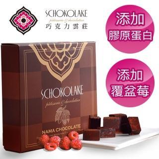 【巧克力雲莊】覆盆莓膠原蛋白生巧克力(特別添加膠原蛋白/冷凍出貨)好評推薦  巧克力雲莊