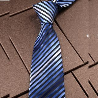【拉福】領帶8cm寬版藍彩領帶手打領帶  拉福