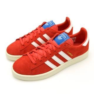 【adidas 愛迪達】CAMPUS W 紅-B37935(女休閒鞋)  adidas 愛迪達