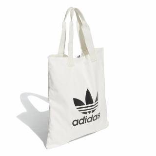 【adidas 愛迪達】側背包 Trefoil Shopper bag 愛迪達 三葉草 購物袋 外出輕便 白 黑(DX2047)折扣推薦  adidas 愛迪達