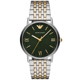 【EMPORIO ARMANI】亞曼尼紳士主流手錶-綠色x雙色/41mm(AR11228)  EMPORIO ARMANI