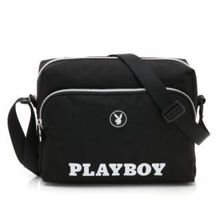 【PLAYBOY】斜背包 黑白風尚系列(黑色)好評推薦  PLAYBOY