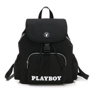【PLAYBOY】後背包 黑白風尚系列(黑色)評價推薦  PLAYBOY