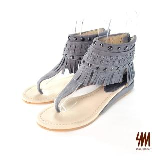 【SM】夾腳流蘇短筒涼鞋(夾腳流蘇短筒涼鞋)折扣推薦  SM
