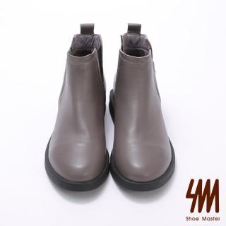 【SM】微尖頭側面小V口低跟短靴(微尖頭側面小V口低跟短靴)  SM