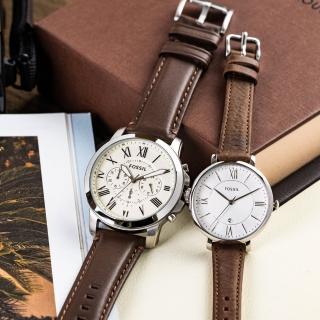 【FOSSIL】羅馬之戀情人對錶(FS4735+ES3708)  FOSSIL