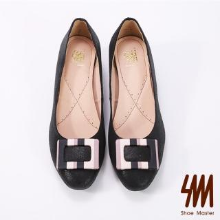 【SM】方型扣飾炫彩奪目低跟鞋(炫彩低跟鞋) 推薦  SM