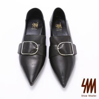 【SM】時尚款-羊皮尖頭扣環率性鞋(羊皮尖頭鞋)  SM