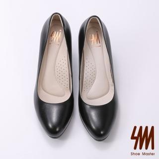 【SM】簡約羊皮粉領厚底高跟淑女鞋(簡約羊皮高跟淑女鞋)  SM