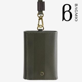 【BAGMIO】三摺式牛皮鈔票卡片夾(橄欖綠附織帶)優惠推薦  BAGMIO