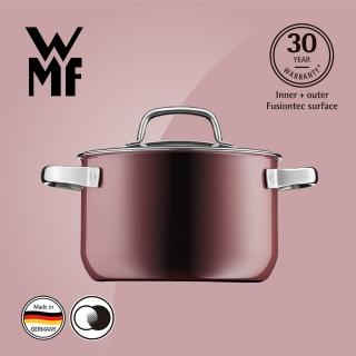 【WMF】Fusiontec 高身湯鍋 20cm 3.7L(金屬玫瑰 赭紅色)  WMF