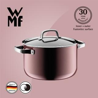 【WMF】Fusiontec 高身湯鍋 24cm 6.4L(金屬玫瑰 赭紅色) 推薦  WMF
