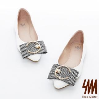 【SM】MOMO真皮款-優雅圈圈尖頭娃娃鞋(優雅圈圈尖頭娃娃鞋)折扣推薦  SM