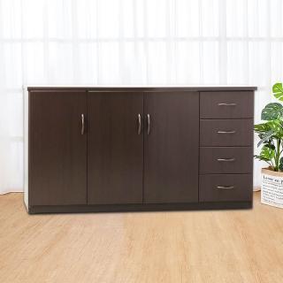 【Bernice】5.5尺三門四抽防水塑鋼收納櫃/置物櫃(四色可選)  Bernice