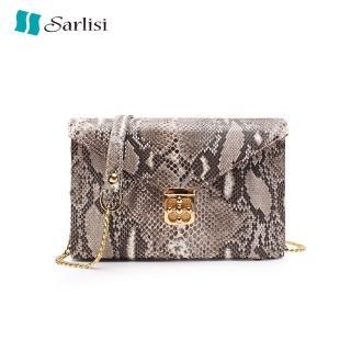【Sarlisi】夏麗絲輕奢女包泰國蟒蛇皮小眾真皮女包新款鏈帶包斜背包品牌優惠  Sarlisi
