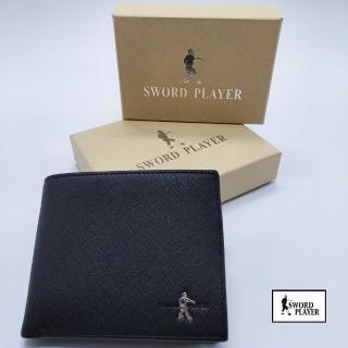 【SWORD PLAYER】短夾進口牛皮十字紋活動式卡夾真皮短夾(進口牛皮十字紋系列)  SWORD PLAYER