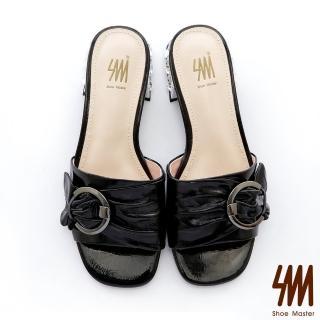 【SM】心機裸鑽方頭低粗跟拖鞋(心機裸鑽方頭低粗跟拖鞋)  SM