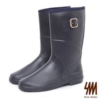 【SM】防水輕系列-皮感中筒低跟平底雨鞋(皮感中筒低跟平底雨鞋)評價推薦  SM