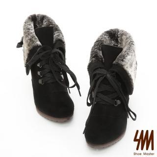 【SM】麂皮反摺毛領綁帶踝靴(麂皮反摺毛領綁帶踝靴)評價推薦  SM