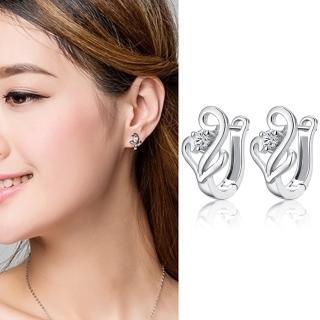 【梨花HaNA】韓國925銀針珍愛之錨點鑽耳扣耳環  梨花HaNA