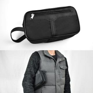 【玖飾時尚】手拿包 雙層全黑手提包(手拿包) 推薦  玖飾時尚