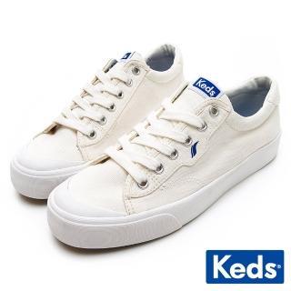 【Keds】CREW KICK 經典半月帆布綁帶休閒鞋(白)  Keds
