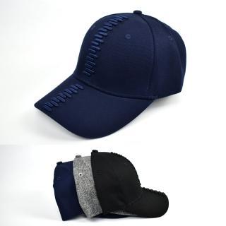 【玖飾時尚】老帽 電鏽層次體線條棒球帽(帽子)  玖飾時尚