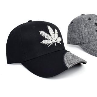 【玖飾時尚】老帽 個性拼接電繡麻葉棒球帽(帽子) 推薦  玖飾時尚