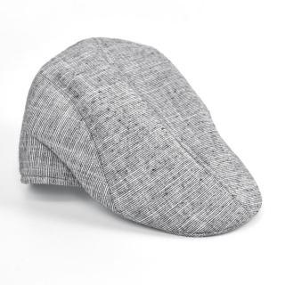 【玖飾時尚】鴨舌帽 灰白混色素面復古扁帽(帽子)品牌優惠  玖飾時尚