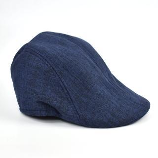 【玖飾時尚】鴨舌帽 雅痞黑藍混色素面扁帽(帽子)折扣推薦  玖飾時尚
