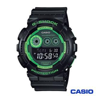 【CASIO 卡西歐】G-SHOCK 大錶面經典三眼數位顯示窗格腕錶-黑x51mm(GD-120N-1B3)  CASIO 卡西歐