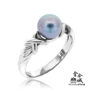 【金合城】天然黑珍珠戒指 #HO-P05(白色14K)評價推薦  金合城