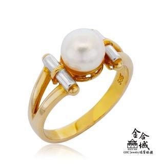 【金合城】天然珍珠戒指 #HO-P31(黃色14K)  金合城